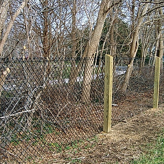 Chain Link Fence On Pressure Treated Posts