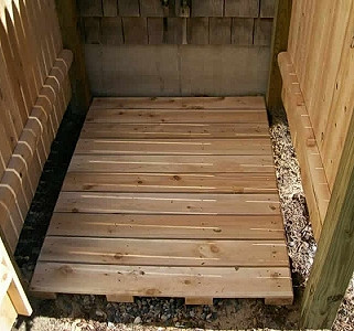 Cedar Shower Floor