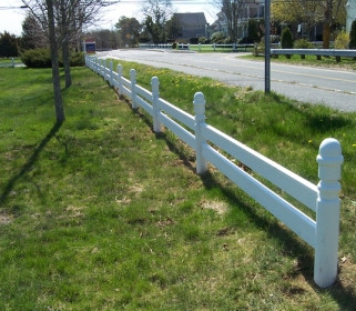 Plank Rail With Turned Posts