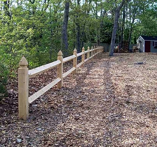 Diamond Post & Rail With Gothic Top Posts