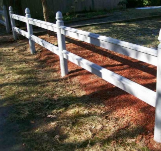Foster Post & Rail With Acorn Tops