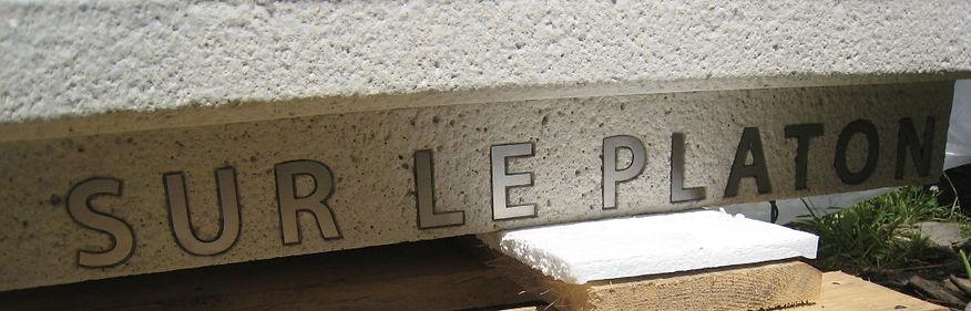 Insertion d'acier inoxydable, escalier du Platon