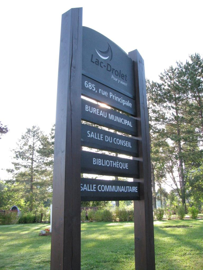 Lac-Drolet Municipal Sign