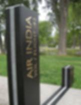 Insertion de bronze, monument commémoratif pour le vol 182 d'Air India