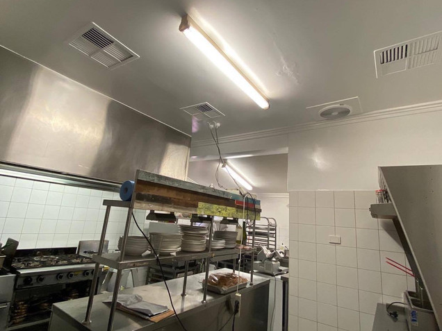 Commercial kitchen repaint