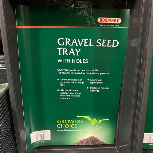 Gravel seed tray