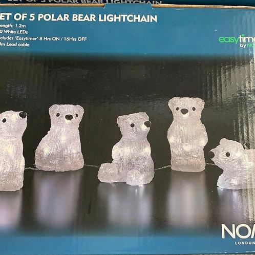 Set of 5 Polar Bear Lightchain