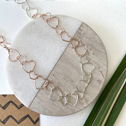 Rose Chain of Hearts