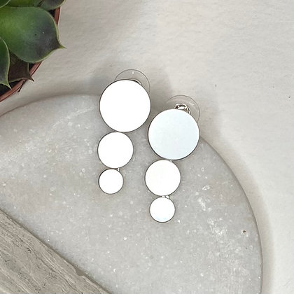 Matt Silver Circle Earring