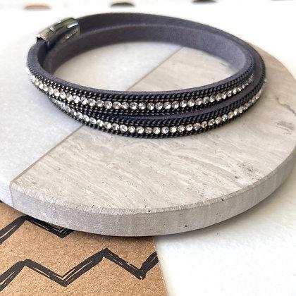 Grey Diamanté Wrap