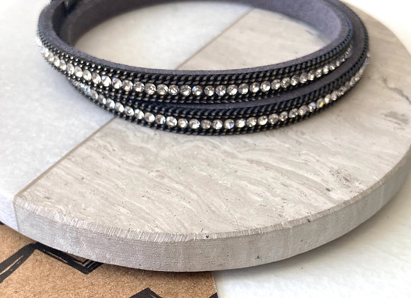 Grey Diamanté Wrap