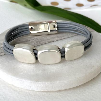 Three Pebble Bracelet
