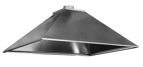 Вентиляционный вытяжной зонт (островной) ВЗО 1000х500х400х200