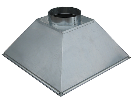 Вентиляционный вытяжной зонт (островной) ВЗО 300х300х300х150