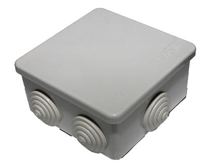 Коробка распределительная 85х85x40 мм IP54 6 вводов