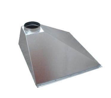 Вентиляционный вытяжной зонт (пристенный) ВЗП 500х500х400х200