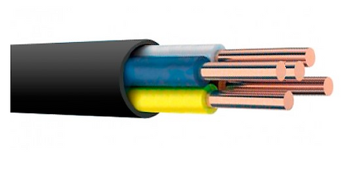 Силовой кабель ВВГ 5х1,5 (цена за метр погонный)