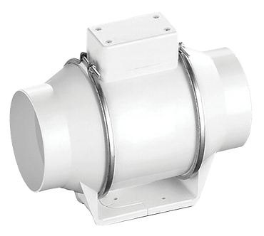 Круглый канальный вентилятор в пластиковом корпусе Ballu Flow 125