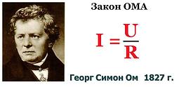 Закон Ома i=u/r сила тока пропорциональна напряжению сопротивлению проводника