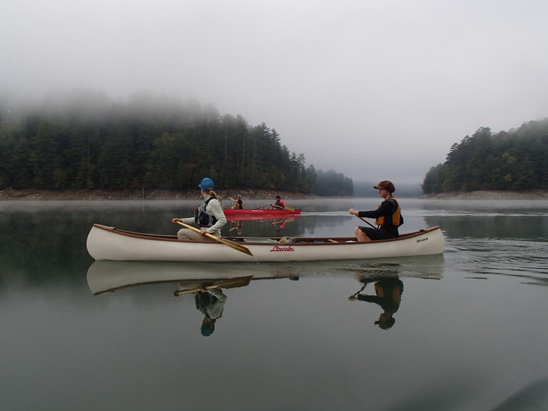 Canoeing in the Fog