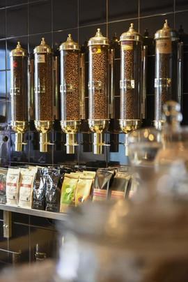 The fresh coffee bean shop