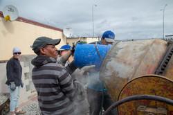 Kleinbooi loading mixer with stone