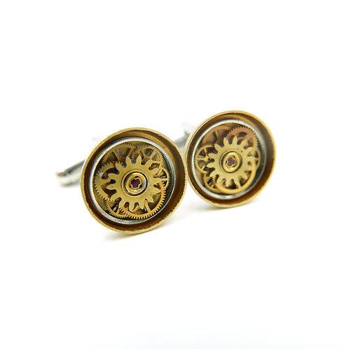 Watch Parts Cufflinks Model Forty-Three Clockwork Mechanical Gears Cuff Links