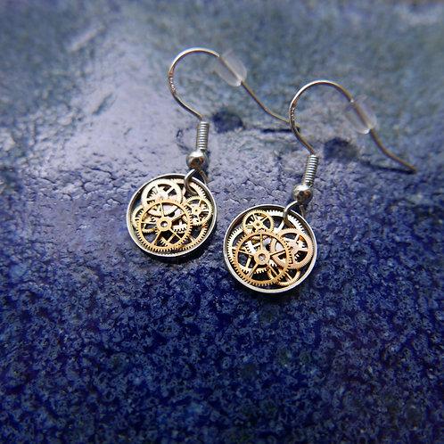 Watch Gear Earrings Gearrings Zeta Elegant Steampunk Dangle Earrings