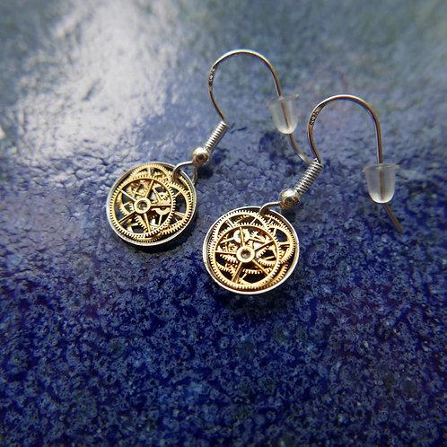 Watch Gear Earrings Gearrings Beta Elegant Steampunk Dangle Earrings