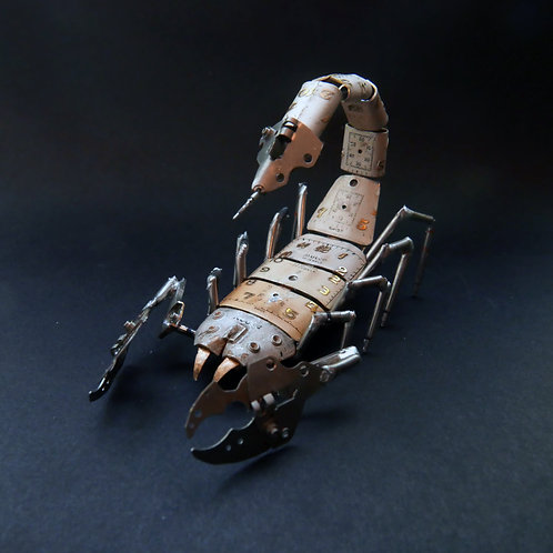 Mechanical Scorpion No 18 Clockwork Steampunk Sculpture made from Watch