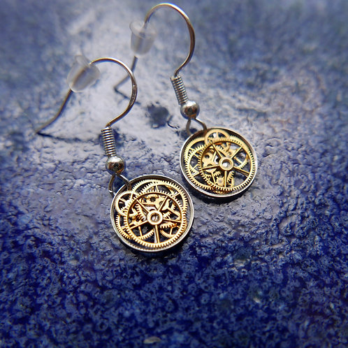 Watch Gear Earrings Gearrings Delta Elegant Steampunk Dangle Earrings
