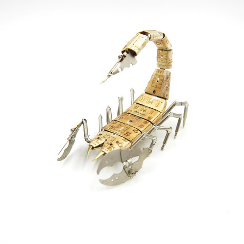 Scorpion No 19 Watch Parts Recycled Mechanical Clockwork Steampunk Sculpture