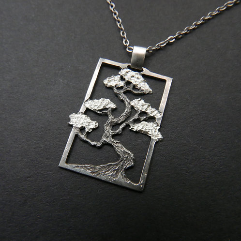 Tree Necklace No 11 Bonsai Pendant Made From Recycled Silver Coins