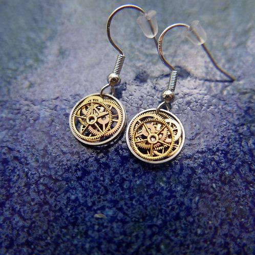 Watch Gear Earrings Gearrings Epsilon Elegant Steampunk Dangle Earrings