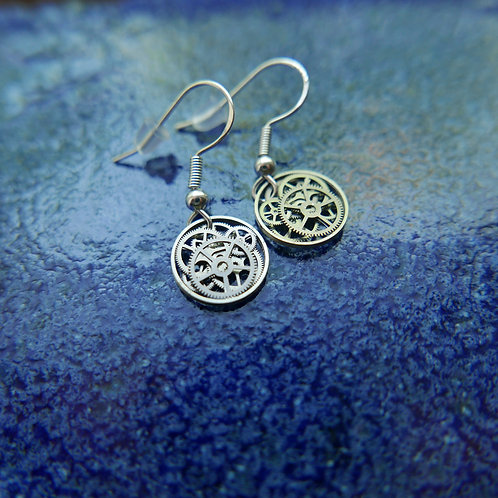 Watch Gear Earrings Gearrings Iota Elegant Steampunk Dangle Earrings