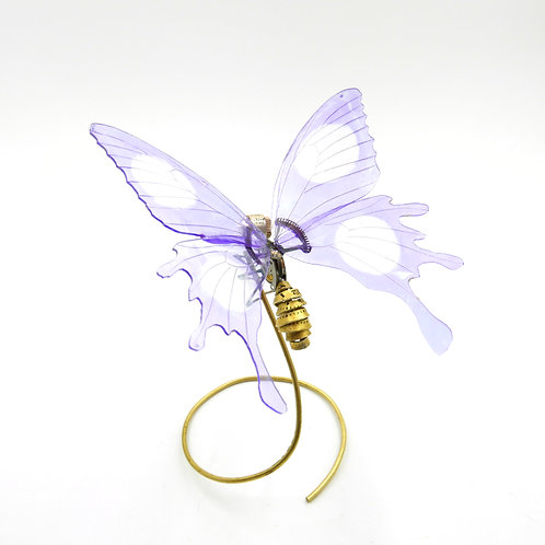 Watch Parts Butterfly No 9 Clockwork Mechanical Insect with DVD wings