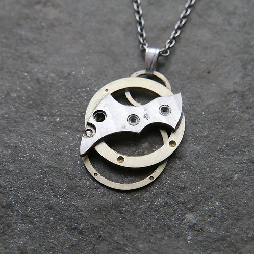 """Watch Parts Pendant """"Kekouan"""" Recycled Mechanical Clockwork Mothers Day Gift"""