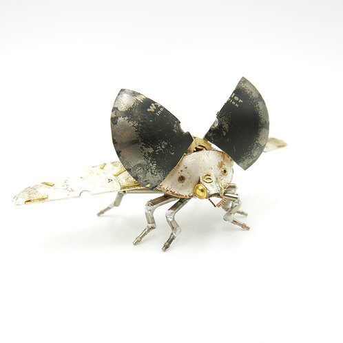 Watch Parts Beetle No 9 Clockwork Ladybug Industrial Insect Steampunk Sculpture