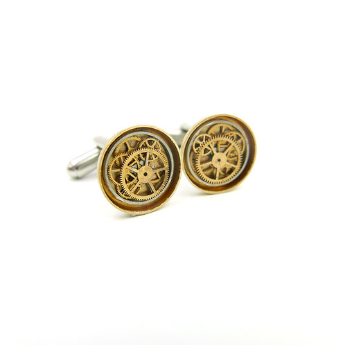 Watch Parts Cufflinks Model Forty-Six Clockwork Mechanical Gears Cuff