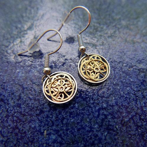 Watch Gear Earrings Gearrings Gamma Elegant Steampunk Dangle Earrings