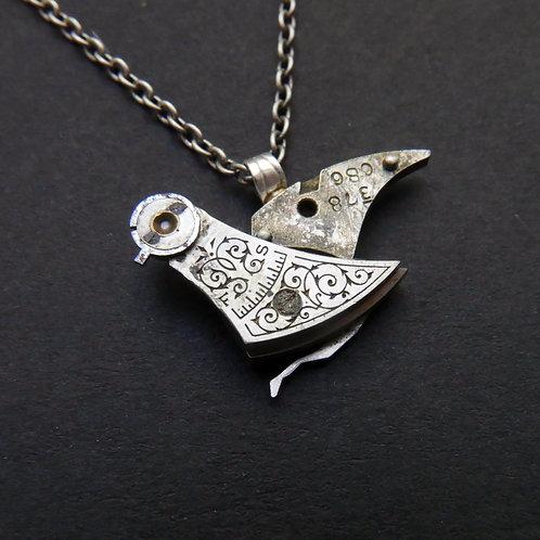 Watch Parts Bird Pendant Clockwork Necklace Organic Nature Gift Idea