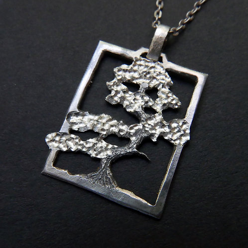 Tree Necklace No 6 Bonsai Pendant From Recycled Silver Coin