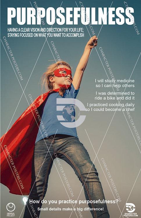 Purposefulness Poster, Character Education