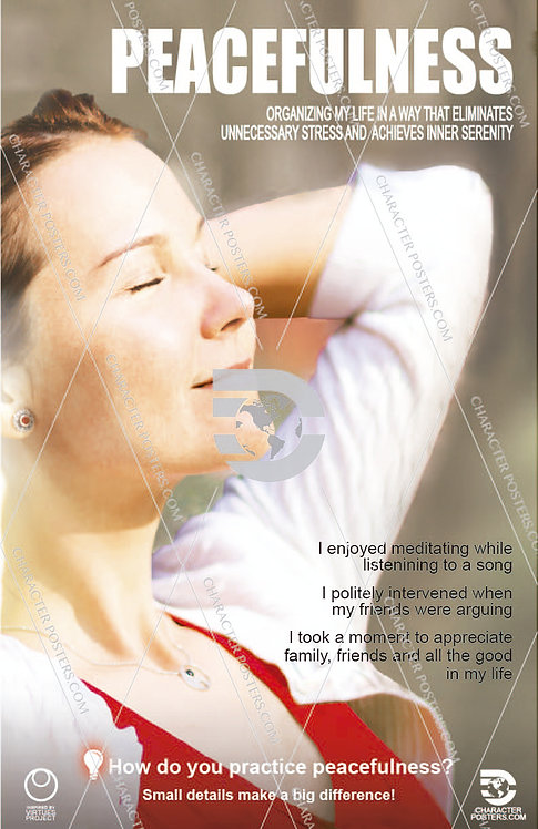 Peacefulness Poster, Character Education