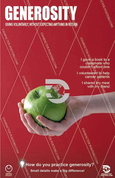 Generosity Poster, Character Education
