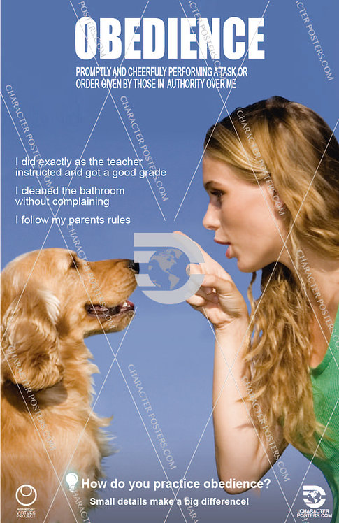 Obedience Poster, Character Education
