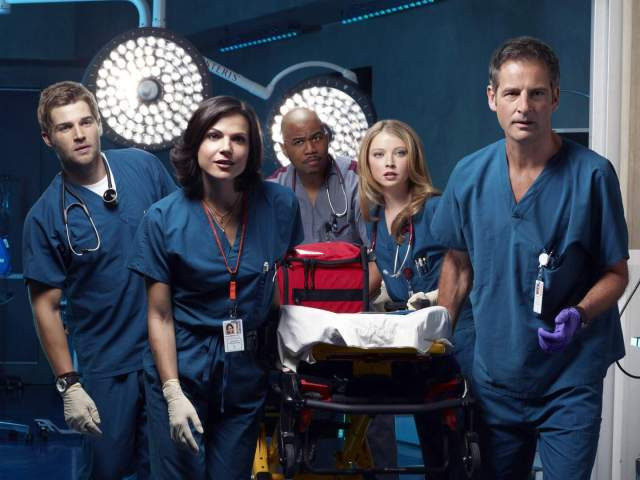 Mike Vogel, Lana Parrilla, Omar Gooding, Elisabeth Harnois and Jeremy Northam (left to right) star in the new series MIAMI MEDICAL premiering Spring 2010 on the CBS Television Network. PHOTO: MATTHIS CLAMER/CBS © 2009 cbs broadcasting inc. all rights reserved