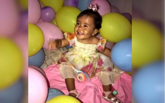 Maria Helena Rodrigues, de 1 ano e 6 meses, passou por três atendimentos médicos antes de morrer, em Goiás — Foto: Reprodução/TV Anhanguera