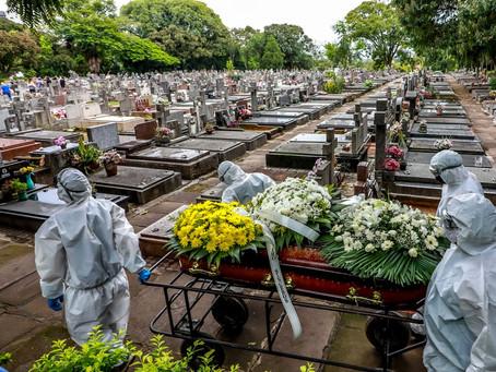 Brasil tem mais mortes por Covid em 1 semana do que EUA, México, Itália e Rússia somados