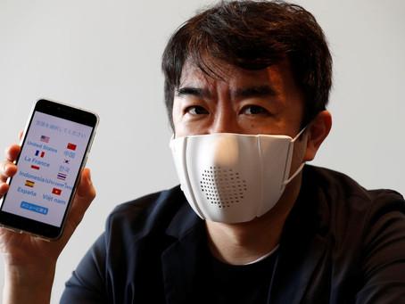 Startup japonesa cria máscara 'inteligente' conectada à rede